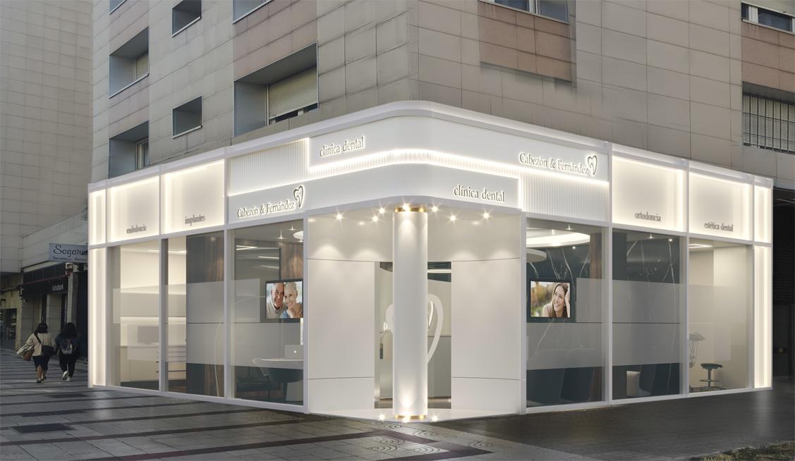 N&N. Nuño y Nuño Infografías, vista fachada, clínica Cabezón y Fernández