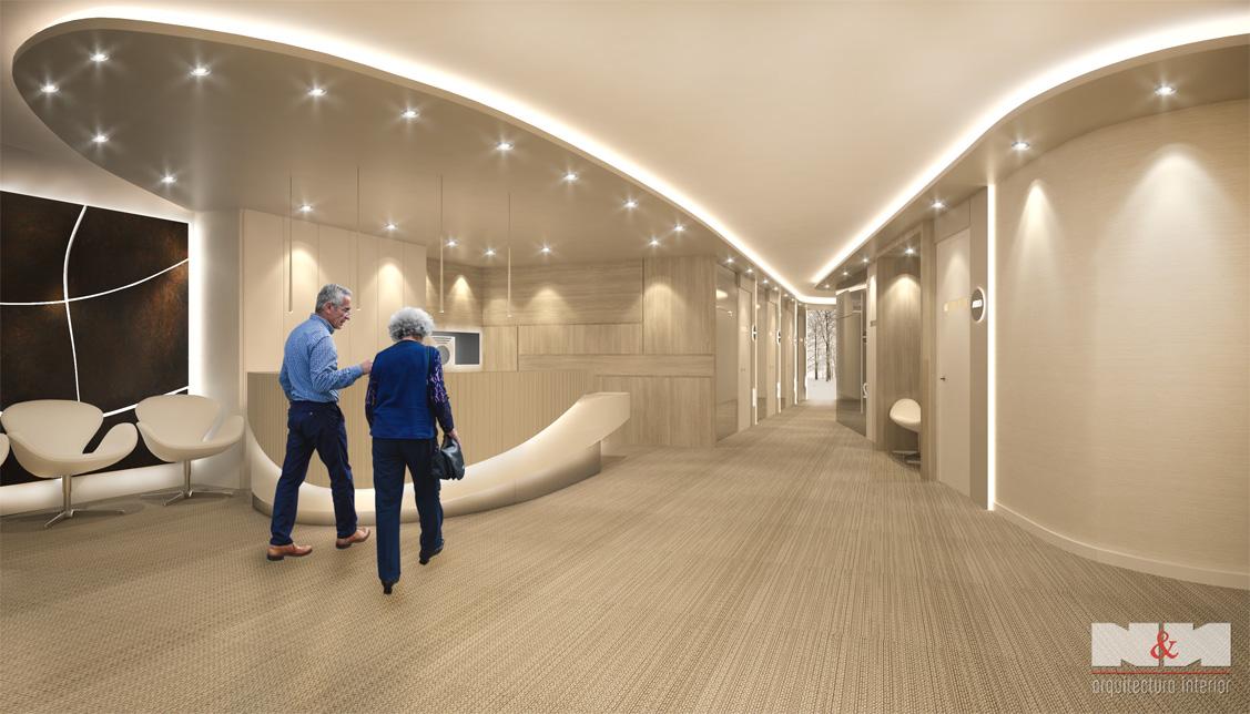 N&N. Nuño y Nuño Arquitectura interior, interiorismo y decoración infografías, vista planta baja