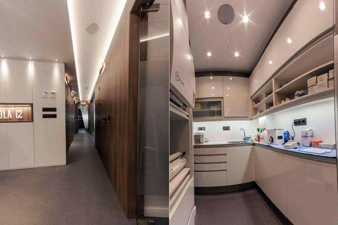 N&N. Nuño y Nuño Arquitectura interior Zaragoza. Interiorismo y decoración. Clínica Dental Sola,. Pamplona, Navarra