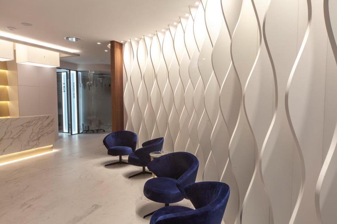 N&N. Nuño y Nuño Arquitectura interior Zaragoza. Interiorismo y decoración. Clínica Dental Pampols & Brotons. Majadahonda, Madrid.