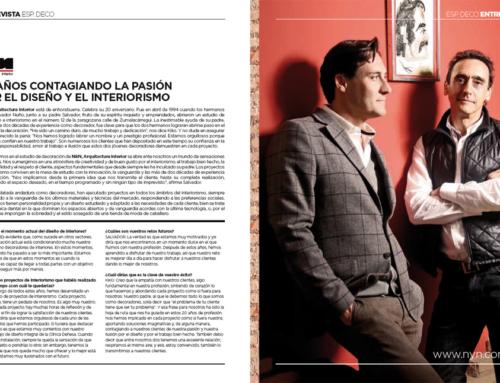 Entrevista por el 20 Aniversario de N&N Arquitectura Interior, para el ESP.DECO de la revista BEANDLIFE