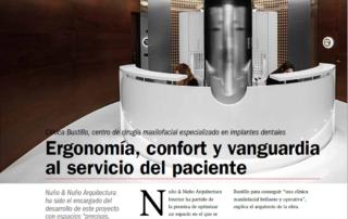 NyN Arquitectura Interior Zaragoza. Revista El Dentista Moderno. Nueva Clínica Dental Bustillo en Pamplona.
