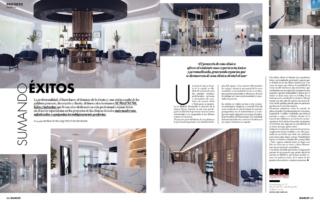 Artículo en la Revista de decoración BE&DECO, sobre la Nueva Clínica Dental Pampols & Brotons de Majadahonda, Madrid.