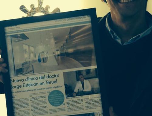 Artículo de prensa en el diario de Teruel: Nueva clínica del Dr. Jorge Esteban en Teruel.